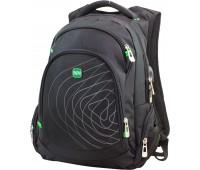 Рюкзак Winner Stile 386-7 подростковый черный с зеленым