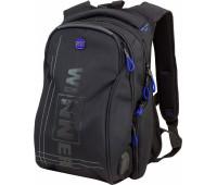 Рюкзак Winner Stile 394-2 подростковый черный с синим