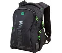 Рюкзак Winner Stile 394-2 подростковый черный с зеленым