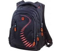 Рюкзак Winner Stile 395-6 подростковый черный с оранжевым