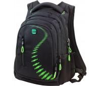 Рюкзак Winner Stile 395-6 подростковый черный с зеленым