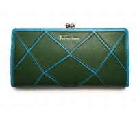 Кошелек  VERITY MNBFN208-66 женский кожаный зеленый