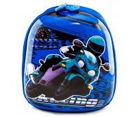 Рюкзак дошкольный для мальчика Cappuccino Toys Мотоциклист плотный корпус синий
