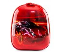 Рюкзак дошкольный для мальчика Cappuccino Toys Гоночная машина плотный корпус красный
