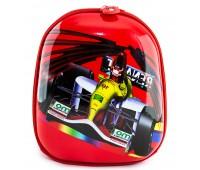 Рюкзак дошкольный для мальчика Cappuccino Toys Гонки плотный корпус красный