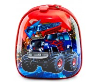 Рюкзак дошкольный для мальчика Cappuccino Toys Монстр Трак плотный корпус красный