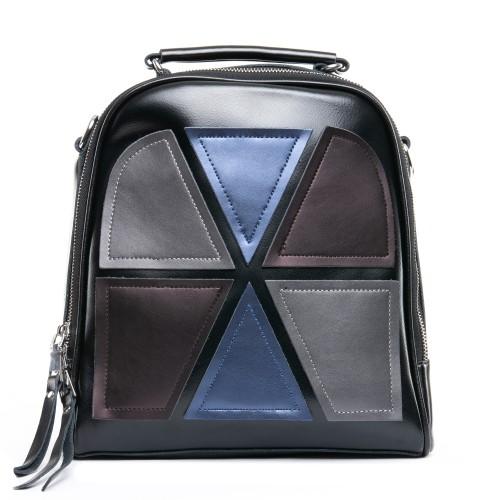 Рюкзак  женский кожаный ALEX RAI 09-1 8694-3 черный