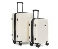 Комплект чемоданов PODIUM 2/1 ABS-пластик 8340 белый
