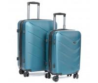 Комплект чемоданов PODIUM 2/1 ABS-пластик 8340 зеленый