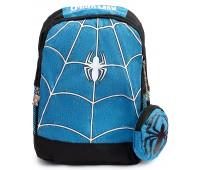 Рюкзак детский дошкольный Aimina Человек Паук Spiderman 5205 с кошельком голубой