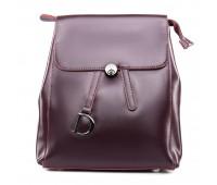 Рюкзак женский кожаный ALEX RAI 09-3 360 бордовый
