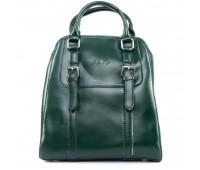 Рюкзак женский кожаный ALEX RAI 09-3 8778 зеленый