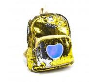 Рюкзак с пайетками для девочек  Cappuccino Toys Единорог CT2040.277 золотой