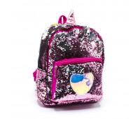 Рюкзак с пайетками для девочек  Cappuccino Toys Единорог CT2040.277 розовый