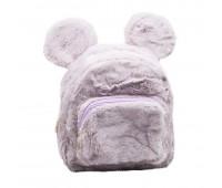 Рюкзак детский меховой с ушками Мики Cappuccino Toys  CT7017.277 фиолетовый