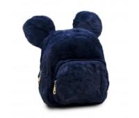 Рюкзак детский меховой с ушками Мики Cappuccino Toys  CT7017.277 синий
