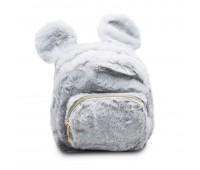 Рюкзак детский меховой с ушками Мики Cappuccino Toys  CT7017.277 серый