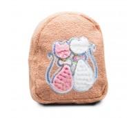 Рюкзак детский меховой Cappuccino Toys Кошки CT7018.277 бежевый
