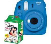 Фотокамера моментальной печати Fujifilm INSTAX mini 9 Cobalt Blue (FUJINSM9CBEU) + Фотобумага Fujifilm instax MINI Instant Film (Twin Pack)