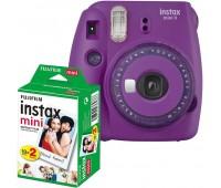 Фотокамера моментальной печати Fujifilm INSTAX Mini 9 Purple (16632922) + Фотобумага Fujifilm instax MINI Instant Film (Twin Pack)