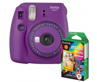 Фотокамера моментальной печати Fujifilm INSTAX Mini 9 Purple (16632922) + Фотобумага Fujifilm instax mini Rainbow Instant Film (10 Exposures)