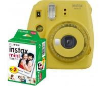 Фотокамера моментальной печати Fujifilm INSTAX Mini 9 Yellow (16632960) + Фотобумага Fujifilm instax MINI Instant Film (Twin Pack)