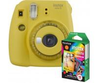 Фотокамера моментальной печати Fujifilm INSTAX Mini 9 Yellow (16632960) + Фотобумага Fujifilm instax mini Rainbow Instant Film (10 Exposures)