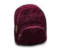 Рюкзак детский для девочек меховой Cappuccino Toys CT7009.277 бордовый