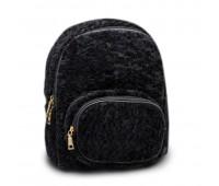 Рюкзак детский для девочек меховой Cappuccino Toys CT7009.277 черный