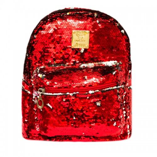 Рюкзак женский с пайетками Fantasy Accessories FA19-5138.277 красный