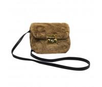 Сумка женская клатч из меха Fantasy Accessories FA7013.277 коричневая