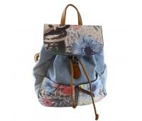 Рюкзак Batty женский джинсовый светло-голубой (BD-01lb)