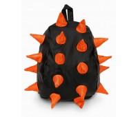 Рюкзак Aimina Rex Рекс черный с оранжевыми колючками большой (A-07bl-oran)