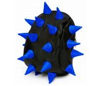 Рюкзак Aimina Rex Рекс черный с синими колючками большой (A-07bl-blue)