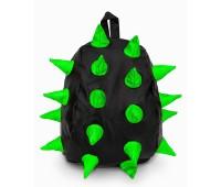 Рюкзак Aimina Rex Рекс черный с зелеными колючками большой (A-07bl-green)