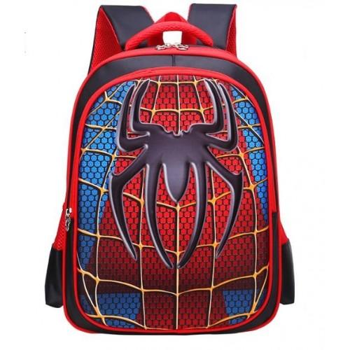 Рюкзак Xiang Huang школьный с объёмным изображением Spiderman Человек Паук красный с синим (XH3D-SpMan)