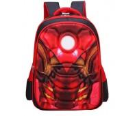Рюкзак Xiang Huang школьный с объёмным изображением Ironman Железный человек красный (XH3D-IrMan)